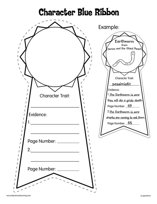 Character Traits 3rd Grade Worksheets Reading Lesson Josh S Clinical Portfolio