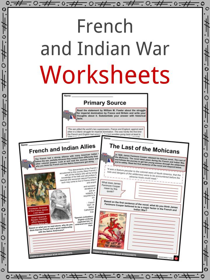 Civil War Worksheets 4th Grade French & Indian War Facts & Worksheets for Kids Seven