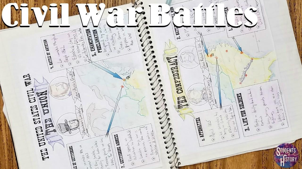 Civil War Worksheets High School Civil War Battles Timeline Project and Lesson