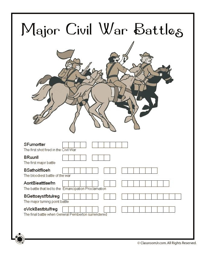 Civil War Worksheets High School Civil War for Kids Woo Jr Kids Activities
