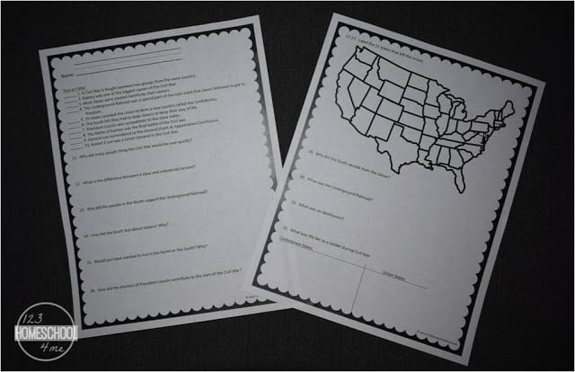 Civil War Worksheets High School Civil War Worksheets