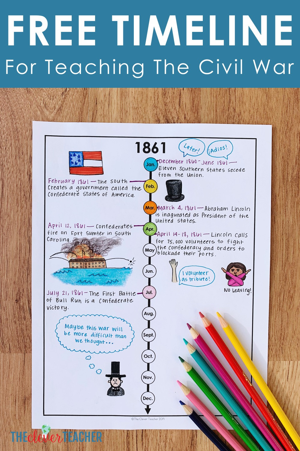 Civil War Worksheets High School How to Teach the Civil War with Timelines Free Worksheet