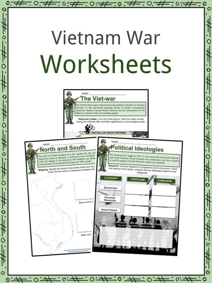 Civil War Worksheets High School Vietnam War Facts Worksheets History Start End