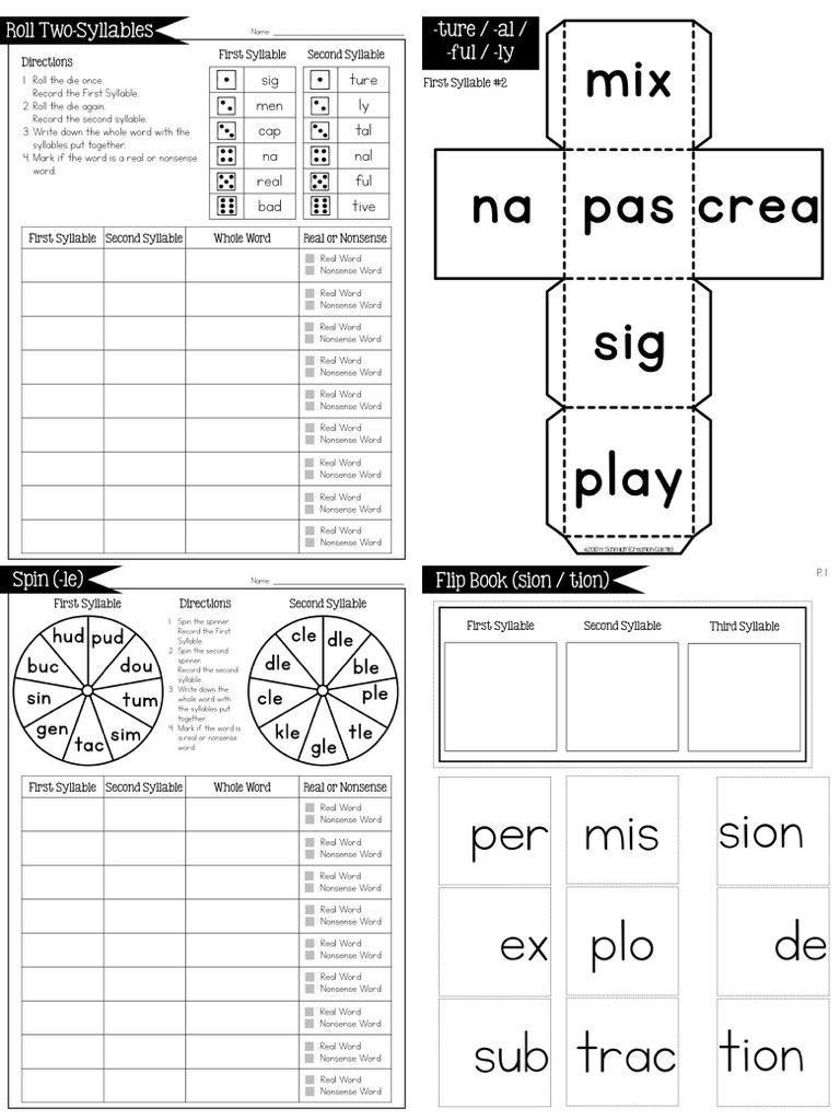 Closed Syllable Worksheets 2nd Grade Open & Closed Syllables & Irregular Syllables Bundle