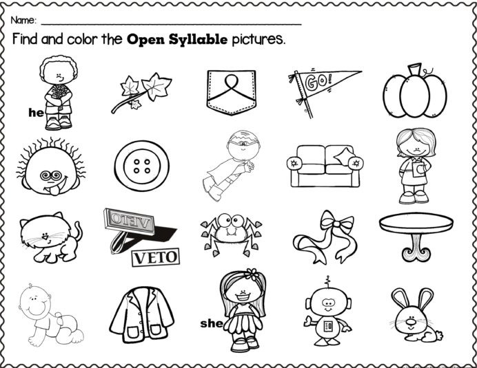 Closed Syllable Worksheets 2nd Grade Open Closed Syllables Packet Word Cards sorting Mats