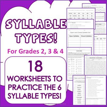 Closed Syllable Worksheets 2nd Grade This Resource Contains the Following 2 Open Syllable