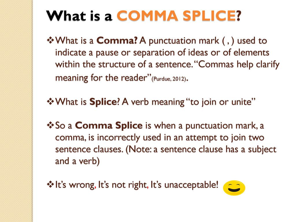 Comma Splice Worksheet High School Let S Learn About … Ma Splices & Run On Sentences Ppt
