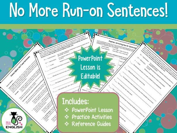 Comma Splice Worksheet High School Ma Splice and Run On Sentence Powerpoint and Activities