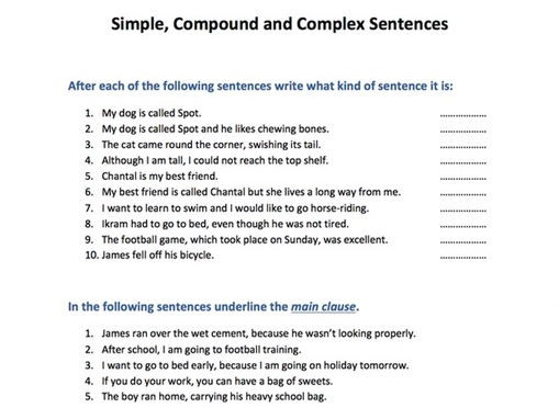 Complex Sentences Worksheet 5th Grade 32 Pound Plex Sentences Worksheet with Answer Key