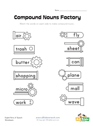 Compound Word Worksheet 1st Grade Pound Nouns Factory Worksheet 1