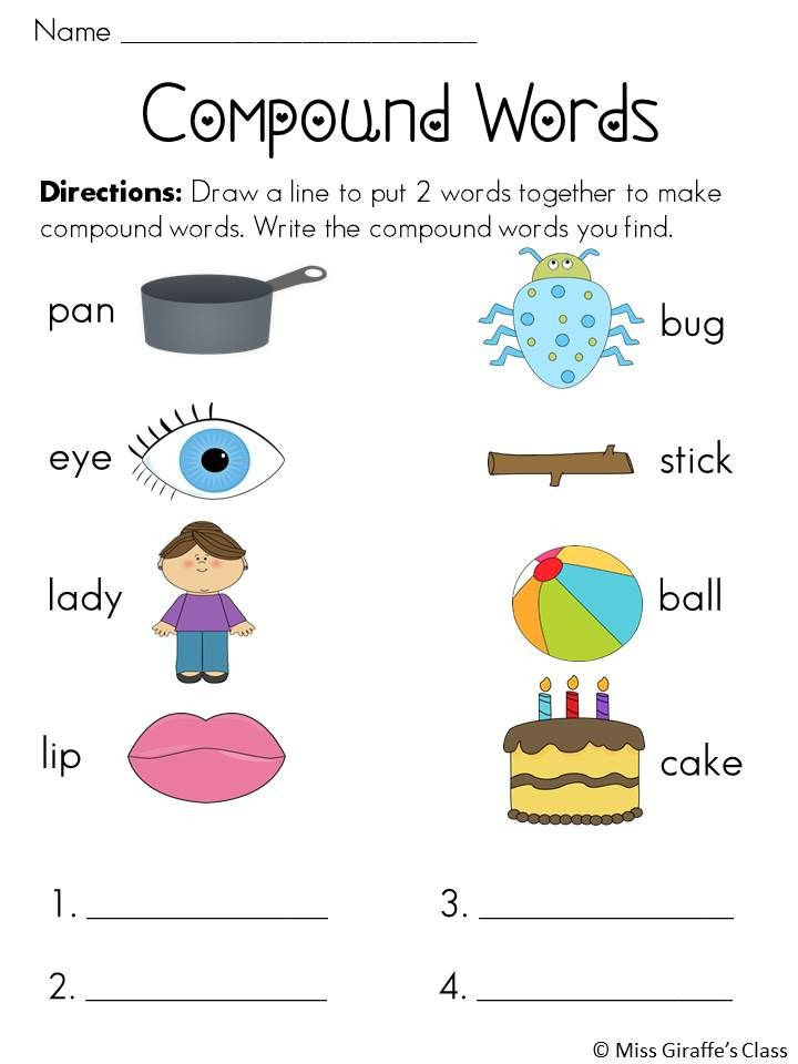 Compound Words Worksheet First Grade Pound Words Worksheets and Activities Mega Pack