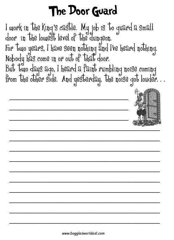 Creative Writing Worksheets High School Writing Prompts for Adults