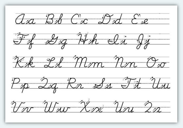 Cursive Alphabet Tracing Worksheet Cursive Lowercase Letter Tracing Worksheets Writing Letters