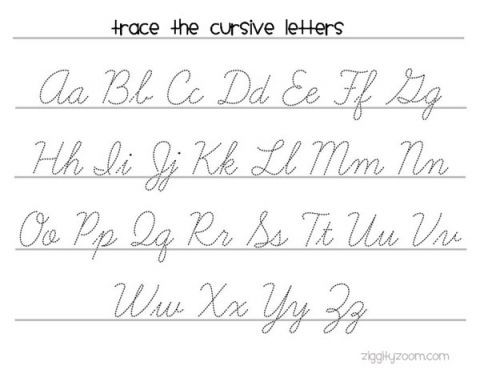 Cursive Alphabet Tracing Worksheet Cursive Writing Practice Worksheet