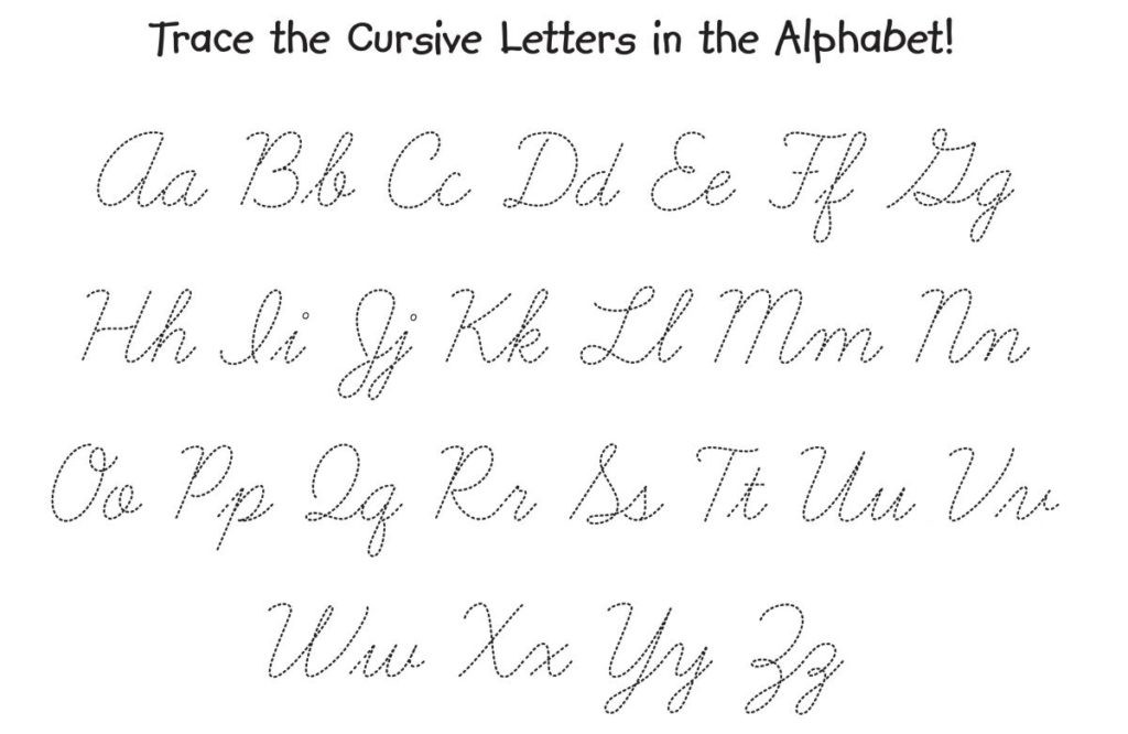Cursive Alphabet Tracing Worksheet Worksheet Tracing Cursive Alphabet Free Printable Writing