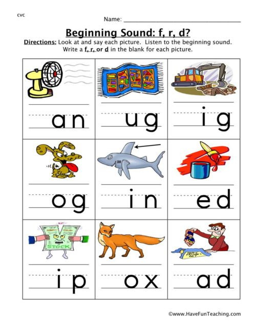 Cvc Worksheets for First Grade Cvc Worksheets • Have Fun Teaching