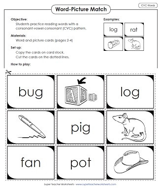 Cvc Worksheets for First Grade Phonics Worksheets Cvc Words
