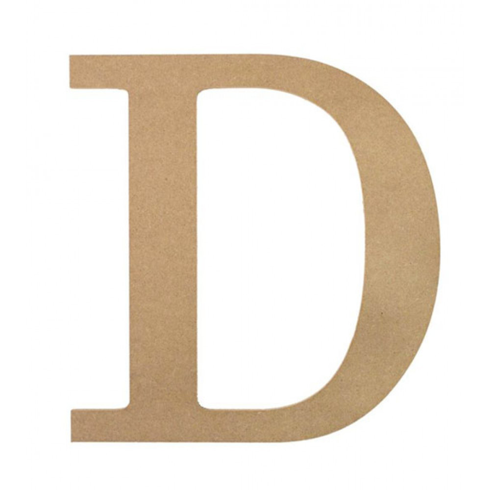 10 decorative wood letter d