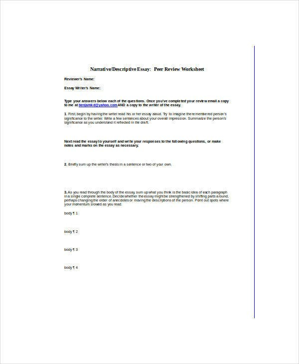Descriptive Writing Worksheets Pdf 11 Free Descriptive Essay Templates Pdf Doc