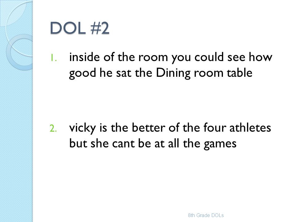 Dol 5th Grade Worksheet 7th Grade Dol Mrs 8th Dols Worksheets Inside the Room You