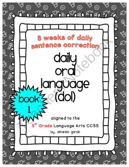 Dol 5th Grade Worksheet Teachers Notebook