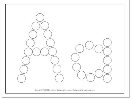 Dot to Dot Alphabet Worksheets A Z Do A Dot Worksheets Confessions Of A Homeschooler