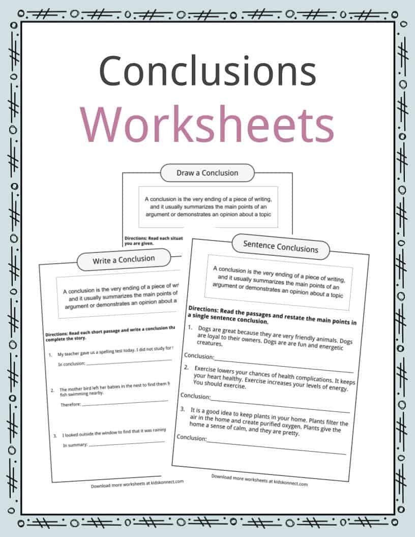 Drawing Conclusions Worksheets 6th Grade Drawing Conclusions Worksheets 4th Grade Conclusion