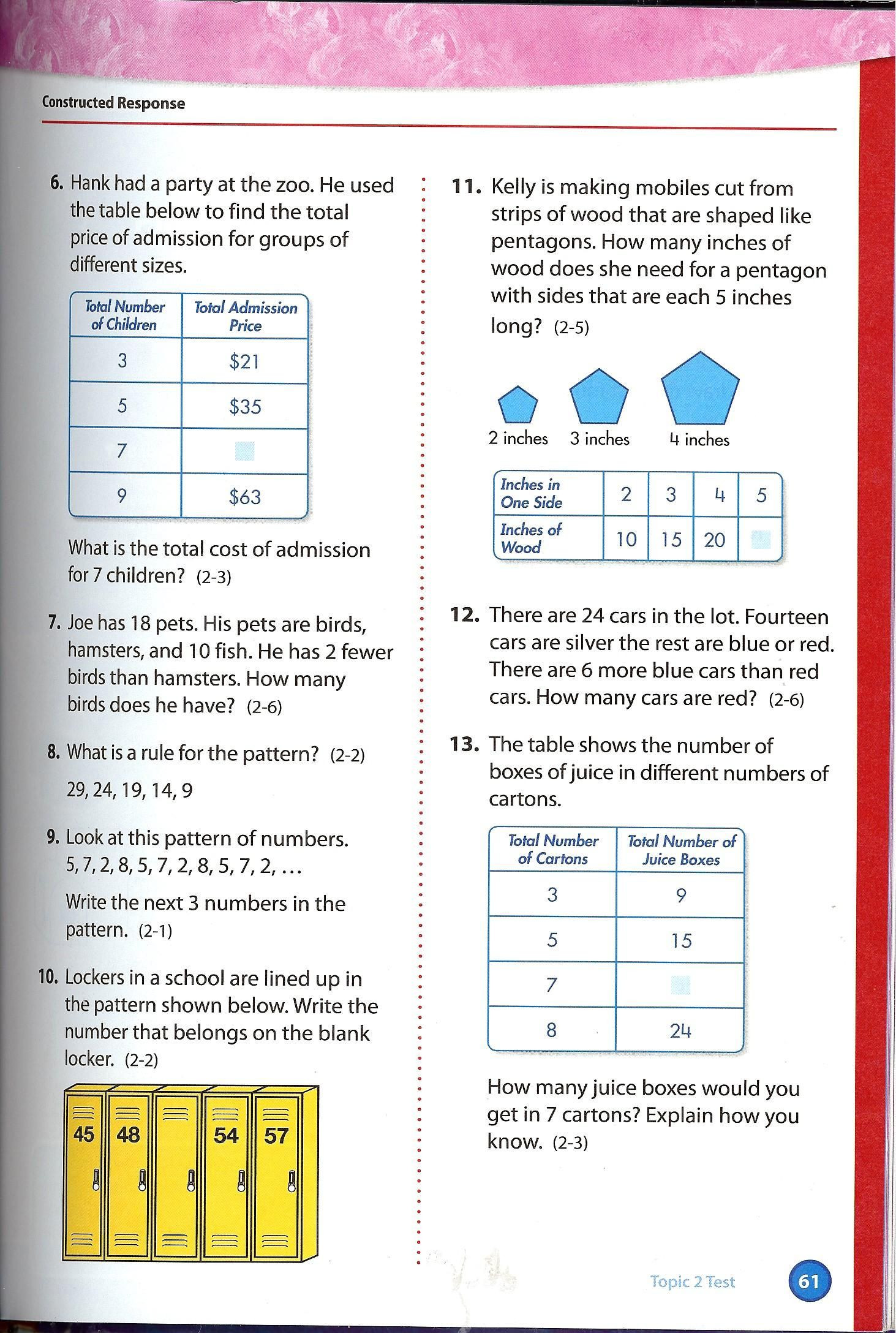 Envision Math 2nd Grade Worksheets 51 Envision Math Workbook Grade 5 Printable Pages In 2020