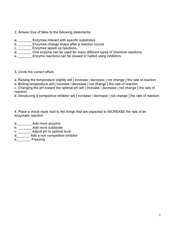 Enzyme Worksheet High School Biology Enzyme Worksheet Biology Answers Promotiontablecovers