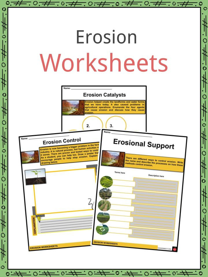 Erosion Worksheets 4th Grade Erosion Facts Worksheets Causes & Effects for Kids