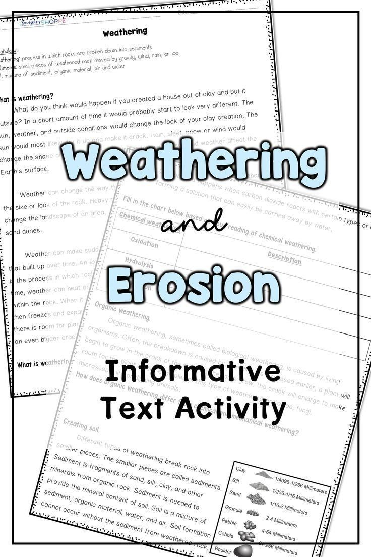 Erosion Worksheets 4th Grade Erosion Worksheets 4th Grade Weathering and Erosion