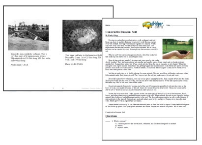 Erosion Worksheets 4th Grade Erosion Worksheets