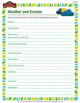 Erosion Worksheets 4th Grade Free Printable Worksheets On Weathering and Erosion