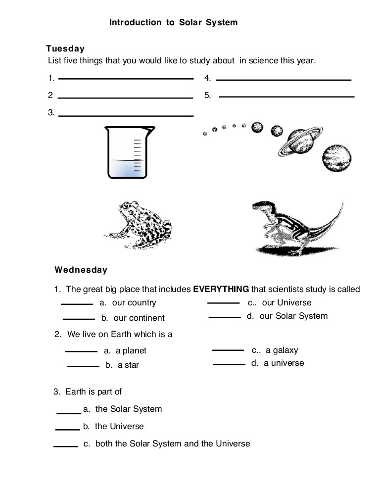 Erosion Worksheets 4th Grade solar Introduction System Worksheet 4th Grade Science