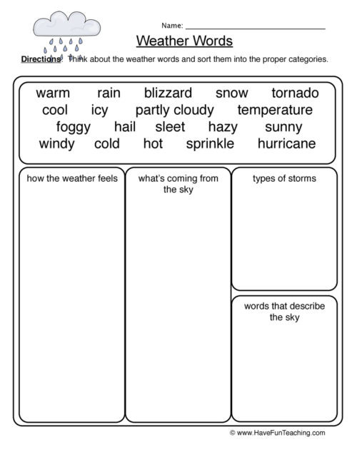 Erosion Worksheets 4th Grade Weather Worksheets Have Fun Teaching 4th Grade Science Words