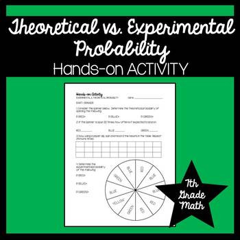 Experimental Probability Worksheet 7th Grade 7th Grade Math theoretical & Experimental Probability Activity 7 Sp 7