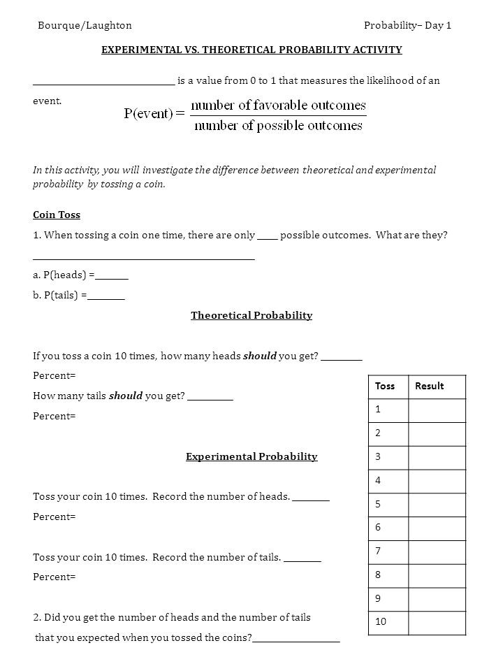 Experimental Probability Worksheet 7th Grade Seventh Grade Probability Lessons Tes Teach