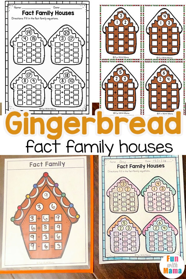 Fact Families Worksheets First Grade Gingerbread Fact Family Fun with Mama