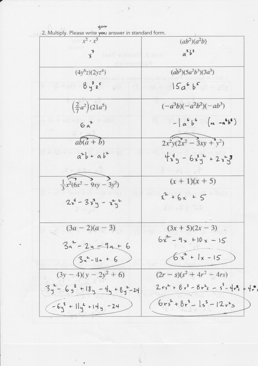 Factoring Expressions Worksheet 7th Grade Yesterday S Work Units 7 & 8 Have A Problem Use Math to