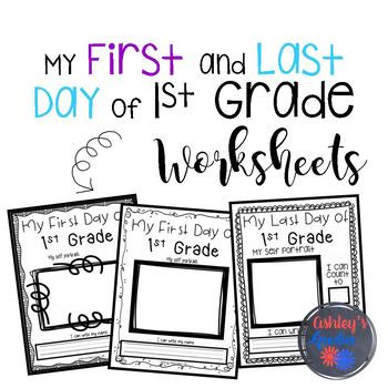 First and Last Day of 1st Grade Worksheets