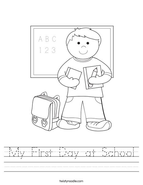 my first day at school 2 worksheet