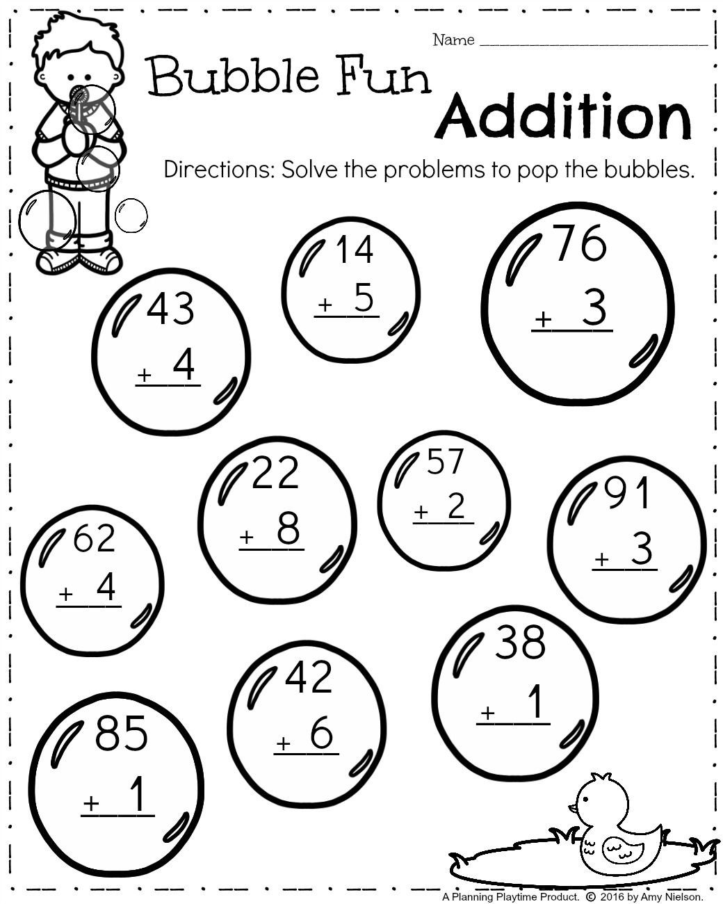 First Grade Spring Worksheets First Grade Worksheets for Spring Secondary School Math