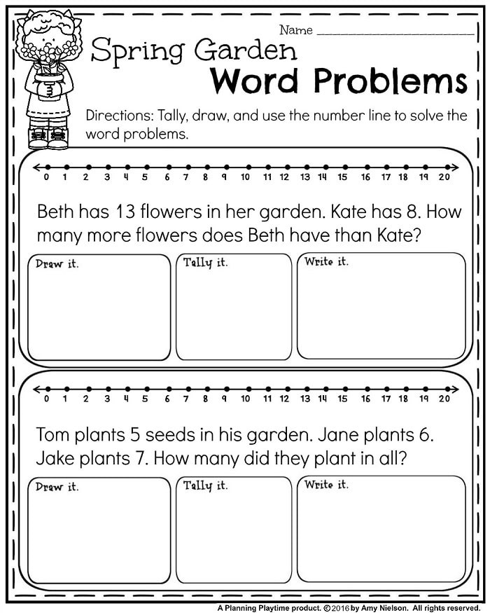 First Grade Spring Worksheets May First Grade Worksheets for Spring Planning Playtime