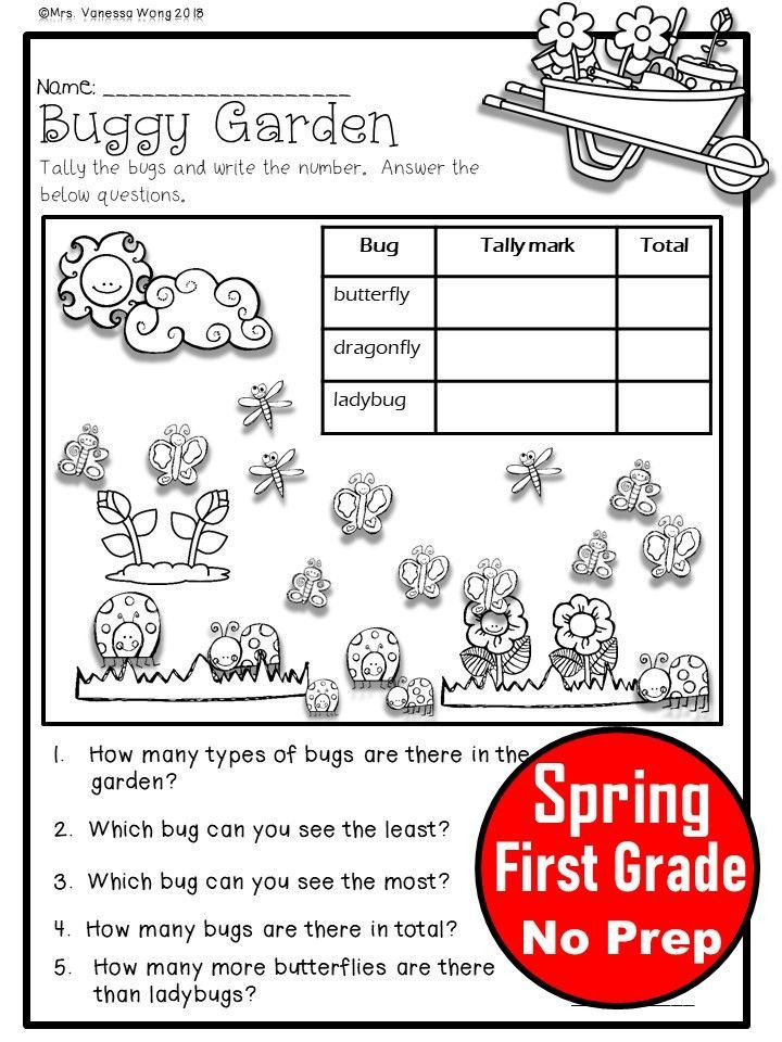 First Grade Spring Worksheets Pin On First Grade Math Activities and Worksheets