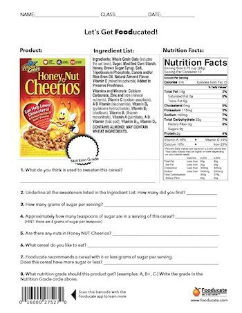 Food Label Worksheet High School Fun Nutrition Worksheets for Kids