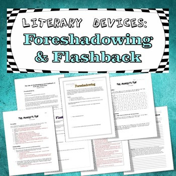 Foreshadowing Worksheets 5th Grade foreshadowing and Flashback Worksheets & Teaching Resources