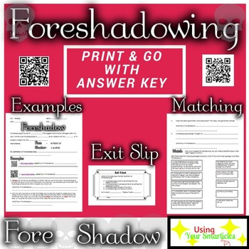 Foreshadowing Worksheets 5th Grade foreshadowing Worksheets & Teaching Resources