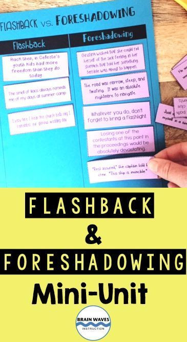 Foreshadowing Worksheets 5th Grade Literary Devices Mini Unit Flashbacks and foreshadowing