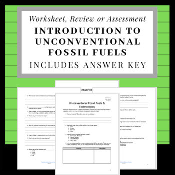 Search fossil fuels worksheets