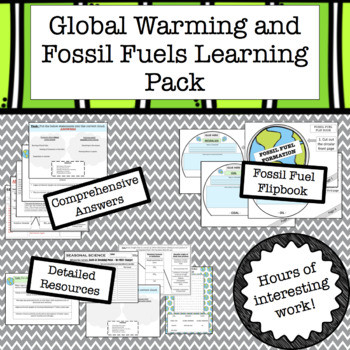 Fossil Fuels Worksheet High School Global Warming and Fossil Fuels Lesson Resources